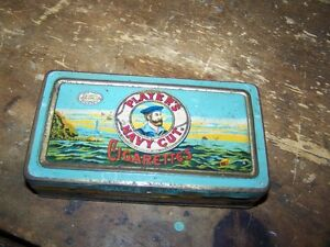 Collectible Tin Litho Advertising Tobacco Box PLAYERS NAVY CUT