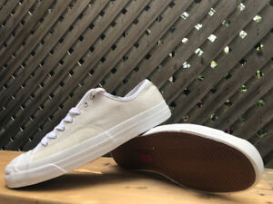 SIZE 9.5MENS CONVERSE OFF-WHITE JACK PURCELL PRO OX SHOE