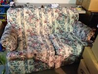 Used floral loveseat