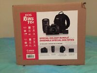 Canon EOS Rebel T6i DSLR Camera with 18-55mm/55-250mm and Bag