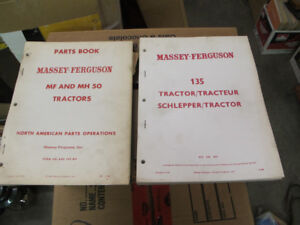 Massey Ferguson MF50, MH50, 135 Tractor Parts Manuals