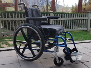 Like new** Quickie LXI folding wheelchair with upgrades.