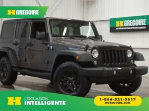2016 Jeep Wrangler Unlimited Willys 4WD (toit rigide et mou)