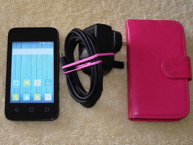 Android Phone - Alcatel Pixi 3 4009X Black Unlocked WiFi Camera Phone Good Condition