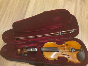 Violin Gliga 1/4 with Dominant strings + bow + hardcase