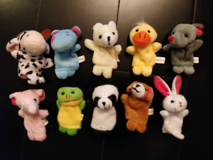 10 Animals Finger Puppets Family