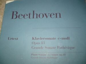 Beethoven Klaviersonate PIANO Opus 13 Grande Sonate Pathetique