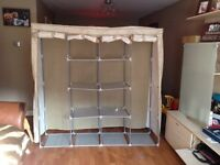 Sturdy, strong Canvas Wardrobe/Storage. Excellent condition £15 Ono!