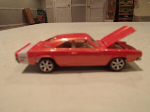 Loose HotWheels Ultra Hots Orange 69 Dodge Charger w/Real Riders