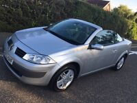 Renault Megane hard top convertible with new mot low mileage summer fun may px