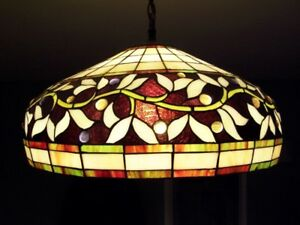 Stained Glass hanging lamp ( New in the box )