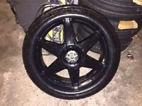 """Mini 18"""" alloys and tyres."""