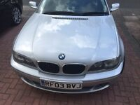 BMW 318 ci . 143 bhp e46 with facelift headlights.silver 2003 in very good condition throughout.