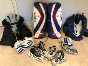 Goalie pads & Equip (sold separate or as set) for 11-14  yr old