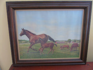 VINTAGE HORSE MARE AND FOAL FARM,print