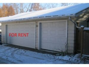 For Rent double detached insulated garage for cold storage only.