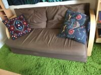 sofa bed and leather sofa to sale