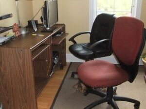 Computer Desk and Chairs