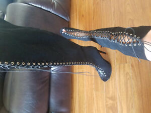 Brand new lace up high heel boots