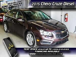 2015 Chevrolet Cruze Diesel  - Leather Seats -  Heated Seats - M