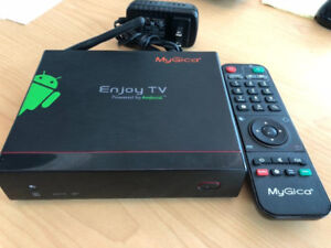 MyGica ATV 1200 Android TV Box, like new, with box and remote