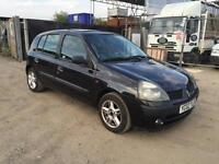 Renault Clio 2002 1.2 Petrol Manual 5 Doors With SunRoof