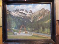 Canadian artist R.H.Mann oil painting