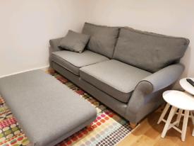 Next 3 seater Ashford sofa and footstool