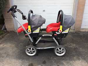 Peg Perego Duette Double Stroller Travel System