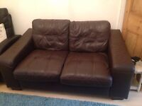 "Brown leather ""distressed sofa "" *reduced *"