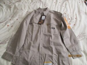 Flame resistant shirt beige New with tags Large Tall fit