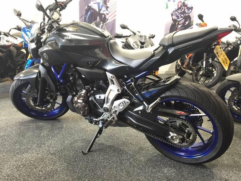 yamaha mt 07 akrapovic titanium exhaust in oxford. Black Bedroom Furniture Sets. Home Design Ideas