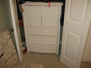 Wicker Armoire