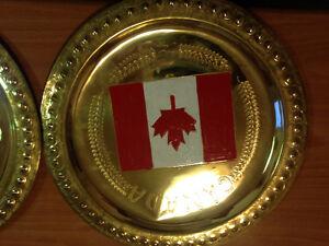 decoration en cuivre avec drapeau sur demande