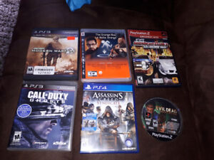 Playstation 2, 3 and 4 games