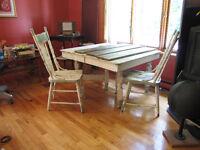 Table antique en chêne