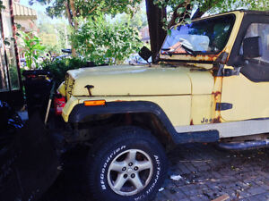 1992 Jeep Wrangler as is