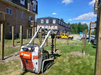 Post hole digging & setting, deck footings *647-226-1213*