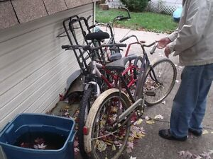 lot of 6 bikes and parts