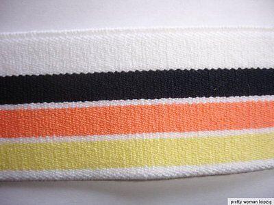 10m Gummiband 0,45€/m mehrfarbig Bündchen  35mm breit TA5