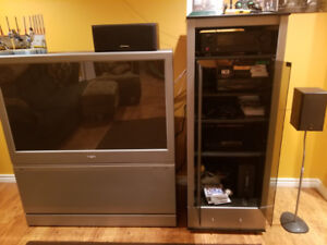 Projection tv and stand