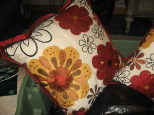 Pair of Pier 1 Cushions  Bright  For Spring/Summer