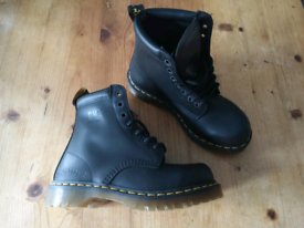 858c4278e6a6 Dr Martens Black leather boots size 6 Royal mail edition.