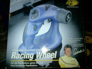 PLAYSTATION CONTROLLER RACING WHEEL TELEGUIDE MANETTE NEW REMOTE