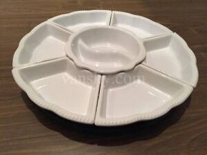 7-Piece Rotating Set Porcelain Serving Platter