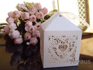 Ivory Loveheart Bomboniere Favour Boxes for Wedding Party Guest Gift Midland Swan Area Preview