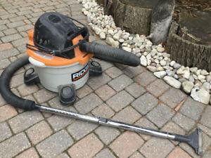 For sale Rigid Shopvac wet and dry vacuum