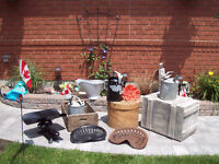 ANTIQUE CRATES , butter Boxes, Coal Skuttle + More