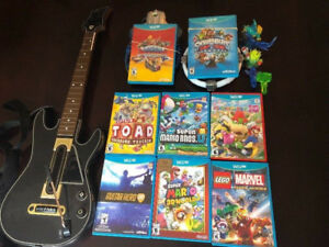 7 NINTENDO Wii U GAMES LEFT, MARIO AND SKYLANDER GAMES
