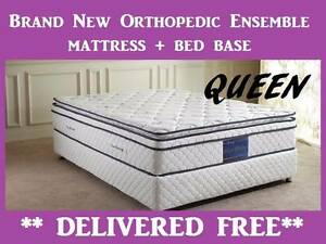 QUEEN Bed Ensemble - Orthopedic Mattress + Base - DELIVERED FREE New Farm Brisbane North East Preview
